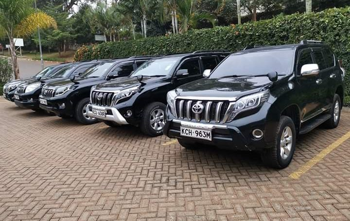 Car rental in Nairobi Kenya at affordable price. Toyota Prado for hire on a special even