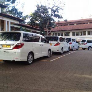 Toyota Alphard for car hire in Nairobi