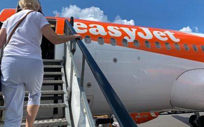 on board a plane
